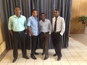 left to right) Jeff Thales, Fredelin Hicher, Jean Marc & Sylinior Houpette