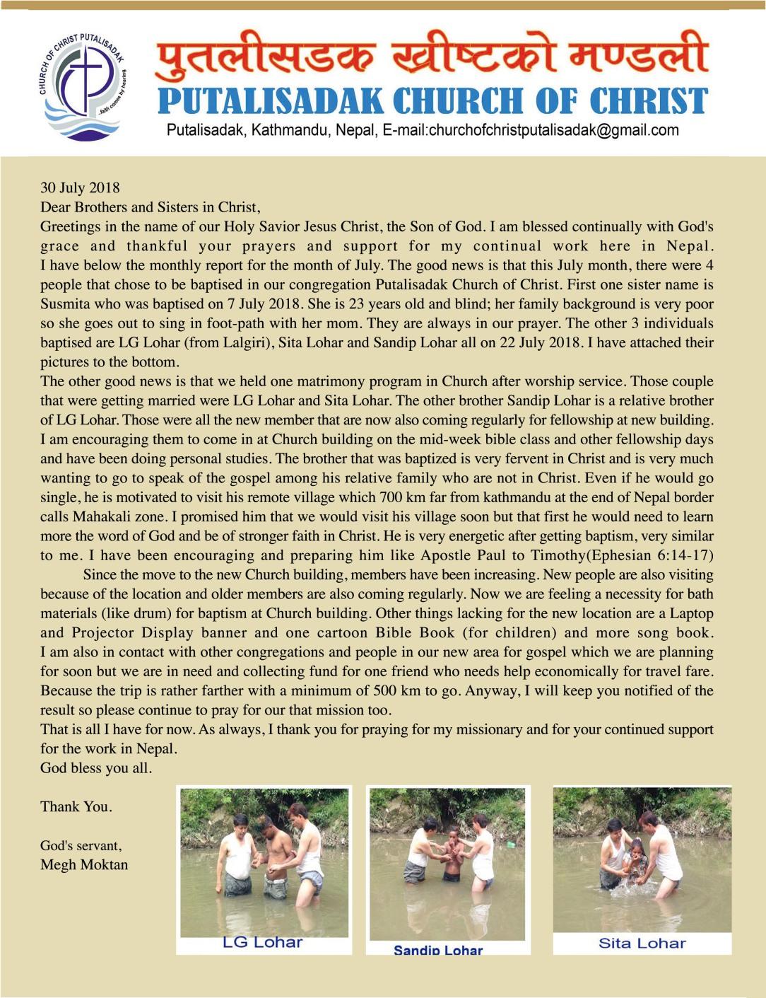 Nepal July Report